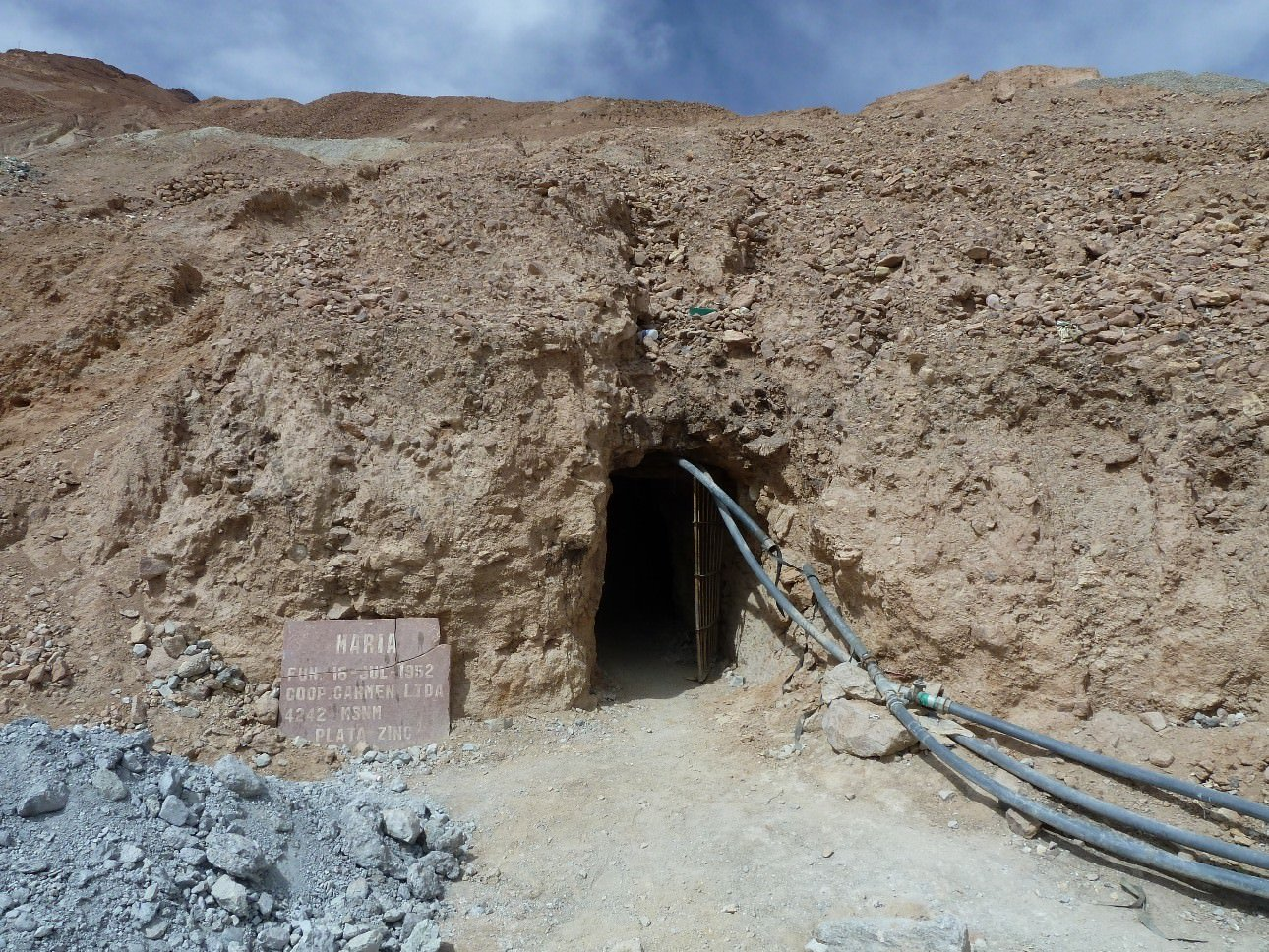 One of many entrances to the Cerro Rico Mines