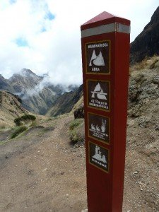 Inca trail, the top of dead womans pass