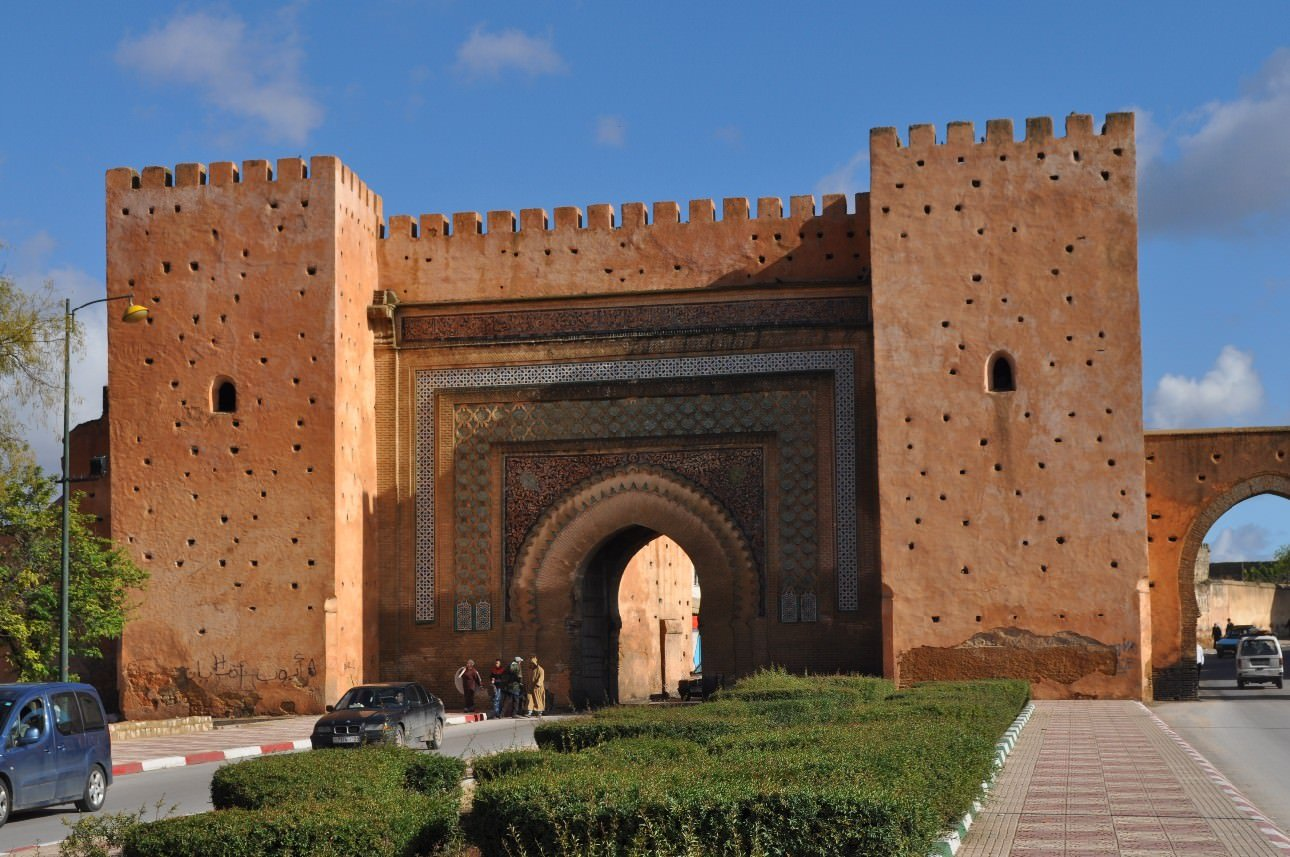 Gate into the walled part of the city